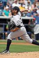 April 3, 2010:  Pitcher Jonathan Albaladejo (33) of the New York Yankees playing in the annual Futures Game during Spring Training at Legends Field in Tampa, Florida.  Photo By Mike Janes/Four Seam Images