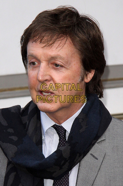 "SIR PAUL McCARTNEY.Natural Resources Defense Council 11th Annual ""Forces For Nature"" Benefit held at 583 Park Avenue, New York, NY, USA..March 30th, 2009.headshot portrait grey gray black scarf   .CAP/ADM/PZ.©Paul Zimmerman/AdMedia/Capital Pictures."