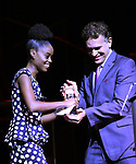Denee Benton and Brian Stokes Mitchell on stage at the 73rd Annual Theatre World Awards at The Imperial Theatre on June 5, 2017 in New York City.