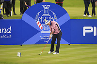 Carlota Ciganda of Team Europe on the 4th tee during Day 2 Foursomes at the Solheim Cup 2019, Gleneagles Golf CLub, Auchterarder, Perthshire, Scotland. 14/09/2019.<br /> Picture Thos Caffrey / Golffile.ie<br /> <br /> All photo usage must carry mandatory copyright credit (© Golffile | Thos Caffrey)