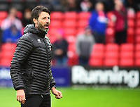 Lincoln City manager Danny Cowley during the pre-match warm-up<br /> <br /> Photographer Andrew Vaughan/CameraSport<br /> <br /> The EFL Sky Bet League Two - Lincoln City v Crewe Alexandra - Saturday 6th October 2018 - Sincil Bank - Lincoln<br /> <br /> World Copyright &copy; 2018 CameraSport. All rights reserved. 43 Linden Ave. Countesthorpe. Leicester. England. LE8 5PG - Tel: +44 (0) 116 277 4147 - admin@camerasport.com - www.camerasport.com