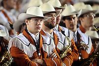 Jan 7, 2010; Pasadena, CA, USA; Members of the Texas Longhorns look on during the third quarter of the 2010 BCS national championship game against the Alabama Crimson Tide at the Rose Bowl.  Mandatory Credit: Mark J. Rebilas-