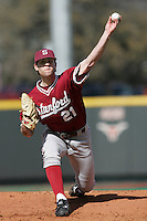 Stanford pitcher Jeremy Bleich in 2008 (Photo by Andrew Woolley / Four Seam Images)