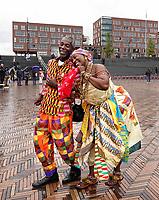 Nederland  Amsterdam -  September 2018. 50 jaar Bijlmer.  Dance With Royals - Kente Fugu Festival op het Anton de Komplein in de Bijlmer. Dansfestival met veel optredens uit Ghana.   Foto mag niet in negatieve context gepubliceerd worden. Foto Berlinda van Dam / Hollandse Hoogte