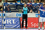 BHCs Rudeck, Christopher (Nr.01) mit einer Frage an den Schiedsrichter im Spiel der Handballliga, Bergischer HC - SC DHFK Leipzig.<br /> <br /> Foto &copy; PIX-Sportfotos *** Foto ist honorarpflichtig! *** Auf Anfrage in hoeherer Qualitaet/Aufloesung. Belegexemplar erbeten. Veroeffentlichung ausschliesslich fuer journalistisch-publizistische Zwecke. For editorial use only.