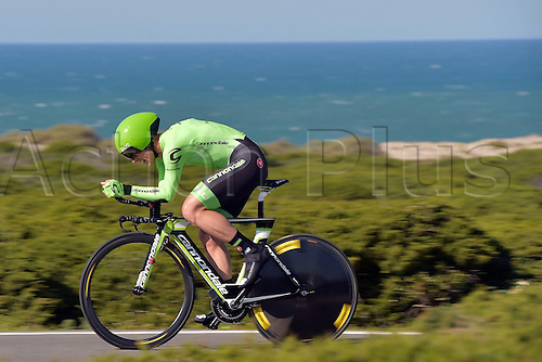 19.02.2016. Sagres, Portual.  LANGEVELD Sebastian (NED) Rider of CANNONDALE PRO CYCLING TEAM in action during stage 3 of the 42nd Tour of Algarve cycling race, an individual time trial of 18km, with start and finish in Sagres on February 19, 2016 in Sagres, Portugal.