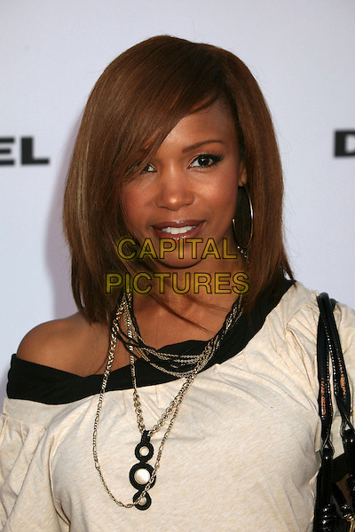 ELISE NEAL.Diesel Store Opening on Melrose Place, West Hollywood, California, USA..May 30th, 2007.headshot portrait off the shoulder white necklace .CAP/ADM/BP.©Byron Purvis/AdMedia/Capital Pictures