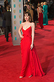 London, UK. 14 February 2016. Actress Dakota Johnson. Red carpet arrivals for the 69th EE British Academy Film Awards, BAFTAs, at the Royal Opera House. © Vibrant Pictures/Alamy Live News