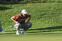 Tommy Fleetwood (Team Europe) on the 12th green during Saturday's Foursomes Matches at the 2018 Ryder Cup 2018, Le Golf National, Ile-de-France, France. 29/09/2018.<br /> Picture Eoin Clarke / Golffile.ie<br /> <br /> All photo usage must carry mandatory copyright credit (© Golffile | Eoin Clarke)