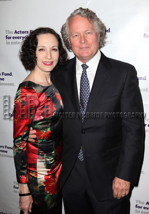 Bebe Neuwirth with her husband, Chris Calkins.attending the Actors Fund Gala honoring Harry Belafonte, Jerry Stiller, Anne Meara & David Steiner at the Mariott Marquis Hotel in New York City on 5/21/12