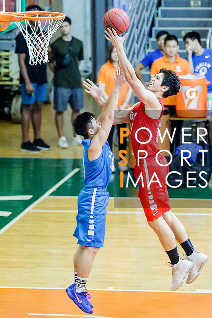 Nixon Nigel Thomas #24 of SCAA Men's Basketball Team goes to the basket against the Fukien during the Hong Kong Basketball League game between SCAA and Fukien at Southorn Stadium on June 01, 2018 in Hong Kong. Photo by Yu Chun Christopher Wong / Power Sport Images