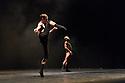 "London, UK. 19.09.2016. Israeli dance company, L-E-V, presents OCD LOVE, by Sharon Eyal and Gai Behar, inspired by the poem OCD, by Neil Hilborn, at Sadler's Wells, as part of ""Sadler's Wells Debuts"" programming. The dancers are: Gon Biran, Darren Devaney, Rebecca Hytting, Mariko Kakizaki, Leo Lerus, Keren Lurie Pardes. Photograph © Jane Hobson."