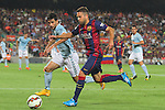 18.10.2014 Barcelona, Spain.La Liga day 8. Picture show Jordi Alba in action during game between FC Barcelona against Eibar at Camp Nou