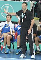 25.01.2013 Barcelona, Spain. IHF men's world championship, Semi-final. Picture show Slavko Goluza in action during game between Spain vs Slovenia at Palau St. Jordi