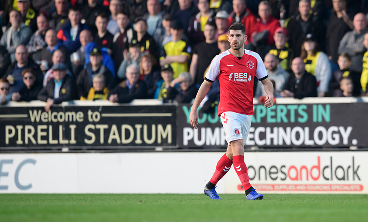 Fleetwood Town's Ched Evans<br /> <br /> Photographer Chris Vaughan/CameraSport<br /> <br /> The EFL Sky Bet League One - Saturday 23rd February 2019 - Burton Albion v Fleetwood Town - Pirelli Stadium - Burton upon Trent<br /> <br /> World Copyright © 2019 CameraSport. All rights reserved. 43 Linden Ave. Countesthorpe. Leicester. England. LE8 5PG - Tel: +44 (0) 116 277 4147 - admin@camerasport.com - www.camerasport.com