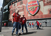 9th September 2017, Emirates Stadium, London, England; EPL Premier League Football, Arsenal versus Bournemouth; Bournemouth fans arrive at Emirates Stadium before kick off