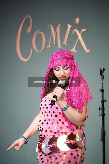 Comedian Rasha Zamamiri performs in the 6th Annual NY Arab-American Comedy Festival in New York, USA, 10 May 2009.