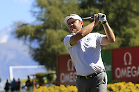 Richard Sterne (RSA) tees off the 11th tee during Sunday's Final Round 4 of the 2018 Omega European Masters, held at the Golf Club Crans-Sur-Sierre, Crans Montana, Switzerland. 9th September 2018.<br /> Picture: Eoin Clarke | Golffile<br /> <br /> <br /> All photos usage must carry mandatory copyright credit (© Golffile | Eoin Clarke)