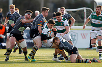 Seb Stegman of Ealing Trailfinders during the Championship Cup Quarter Final match between Ealing Trailfinders and Nottingham Rugby at Castle Bar , West Ealing , England  on 2 February 2019. Photo by Carlton Myrie / PRiME Media Images.