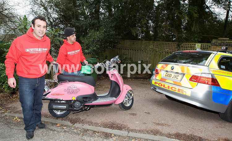 **ALL ROUND PICTURES FROM SOLARPIX.COM**                                             **WORLDWIDE SYNDICATION RIGHTS**                                                                                  Caption:  Kate Price aka Jordan has a new 1125cc pink customised  scooter delivered to her house in Surrey UK                                                                             .                                                                                           .JOB REF: 12913       SKD       DATE: 03.03.2011                                                           **MUST CREDIT SOLARPIX.COM OR DOUBLE FEE WILL BE CHARGED**                                                                      **MUST AGREE FEE BEFORE ONLINE USAGE**                               **CALL US ON: +34 952 811 768 or LOW RATE FROM UK 0844 617 7637**