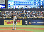 Masahiro Tanaka (Yankees),<br /> APRIL 2, 2016 - MLB :<br /> New York Yankees starting pitcher Masahiro Tanaka reacts on the mound during the opening day of the Major League Baseball game against the Tampa Bay Rays at Tropicana Field in St. Petersburg, Florida, United States. (Photo by AFLO)