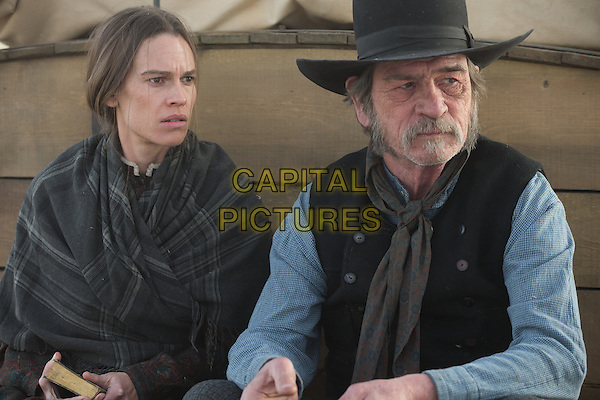 Hilary Swank, Tommy Lee Jones<br /> in The Homesman (2014) <br /> *Filmstill - Editorial Use Only*<br /> CAP/FB<br /> Image supplied by Capital Pictures