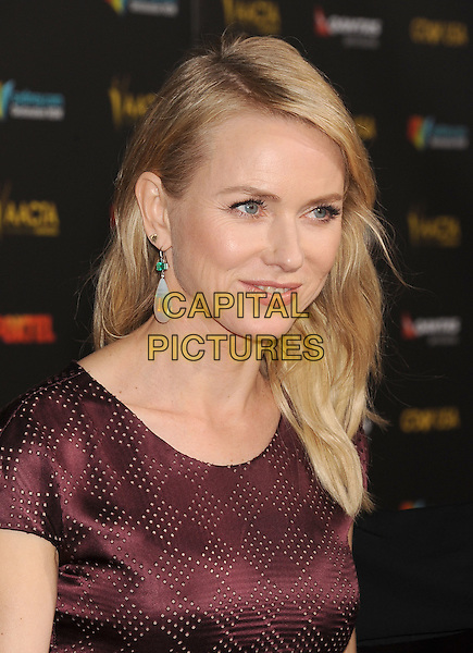 LOS ANGELES, CA - JANUARY 31: Actress Naomi Watts attends the 2015 G'Day USA Gala featuring the AACTA International Awards presented by Qantas at Hollywood Palladium on January 31, 2015 in Los Angeles, California.<br /> CAP/ROT/TM<br /> &copy;TM/ROT/Capital Pictures