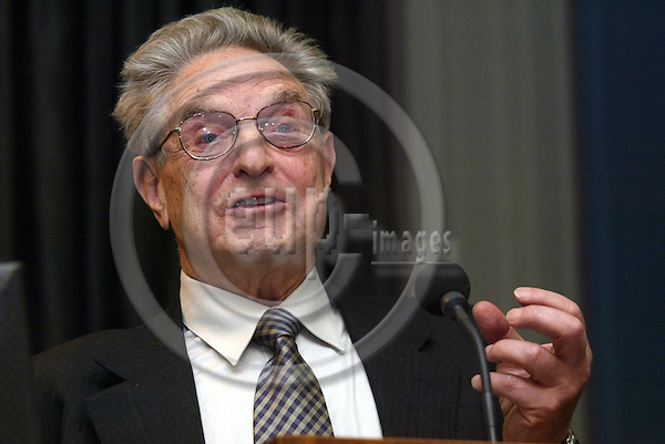 Brussels---Council---Residence Palace---      26.01.2004.Georg SOROS, chairman of Soros Fund Mangement LLC, investment financier and so-called philanthropist .PHOTO: EUP-IMAGES / ANNA-MARIA ROMANELLI