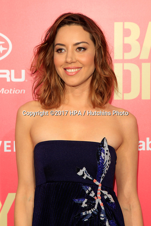 "LOS ANGELES - JUN 14:  Aubrey Plaza at the ""Baby Driver"" Premiere at the The Theater at Ace Hotel on June 14, 2017 in Los Angeles, CA"