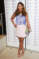 Ferne McCann arriving at James' Jog On To Cancer Event, Kensington Roof Gardens, London. 09/04/2014 Picture by: Alexandra Glen / Featureflash