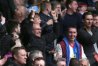 Blackburn Rovers fans celebrate their teams 1-0 victory<br /> <br /> Photographer Stephen White/CameraSport<br /> <br /> The EFL Sky Bet Championship - Nottingham Forest v Blackburn Rovers - Friday 14th April 2016 - The City Ground - Nottingham<br /> <br /> World Copyright &copy; 2017 CameraSport. All rights reserved. 43 Linden Ave. Countesthorpe. Leicester. England. LE8 5PG - Tel: +44 (0) 116 277 4147 - admin@camerasport.com - www.camerasport.com