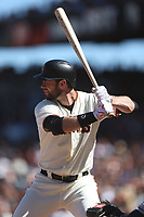 SAN FRANCISCO, CA - JULY 22:  Brandon Belt #9 of the San Francisco Giants bats against the San Diego Padres during the game at AT&T Park on Saturday, July 22, 2017 in San Francisco, California. (Photo by Brad Mangin)