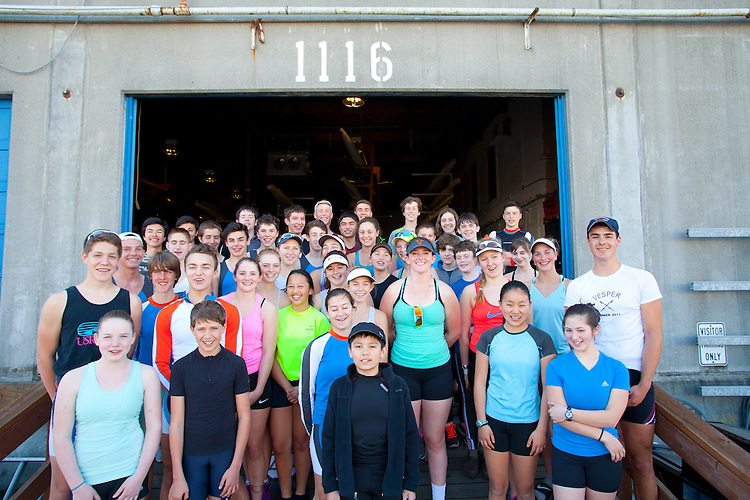 Rowing, Seattle, Seattle Rowing Center, rowing schools, school portrait, crews and coaches, founders Conal Groom and Carol Nagy at the warehouse boathouse,