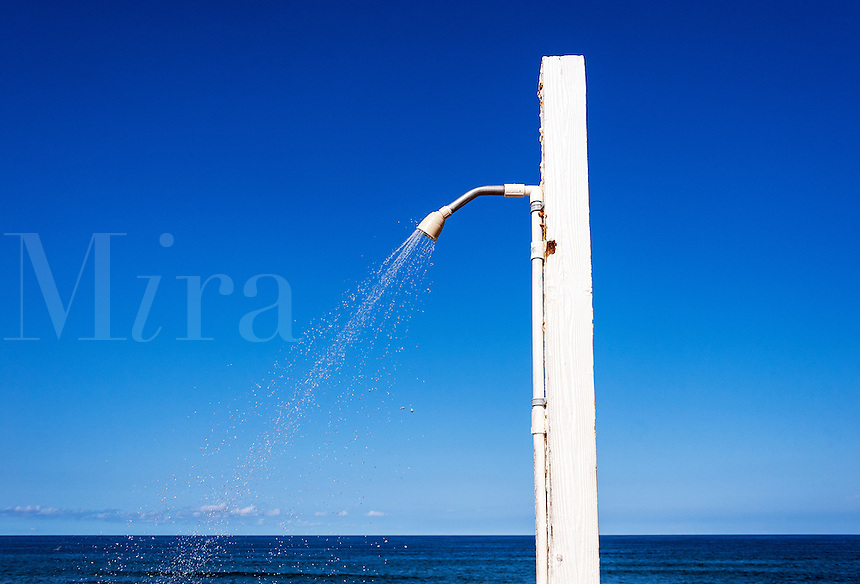 Outdoor beach shower.