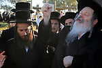 Israel, Tel Aviv, Tashlich ceremony of the Premishlan congregation by the Yarkon River, the Rebbe