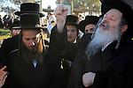 Israel, Tel Aviv, Tashlich ceremony of the Premishlan congregation by the Yarkon River, the Rebbe
