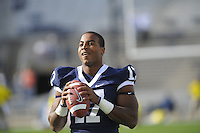18 October 2008:  Penn State QB Daryll Clark (17)..The Penn State Nittany Lions defeated the Michigan Wolverines 46-17 October 18, 2008 at Beaver Stadium in State College, PA..