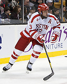 Garrett Noonan (BU - 13) - The Northeastern University Huskies defeated the Boston University Terriers 3-2 in the opening round of the 2013 Beanpot tournament on Monday, February 4, 2013, at TD Garden in Boston, Massachusetts.