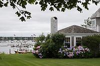 A house is seen along South Water Street in Edgartown, Martha's Vineyard, Massachusetts, USA.