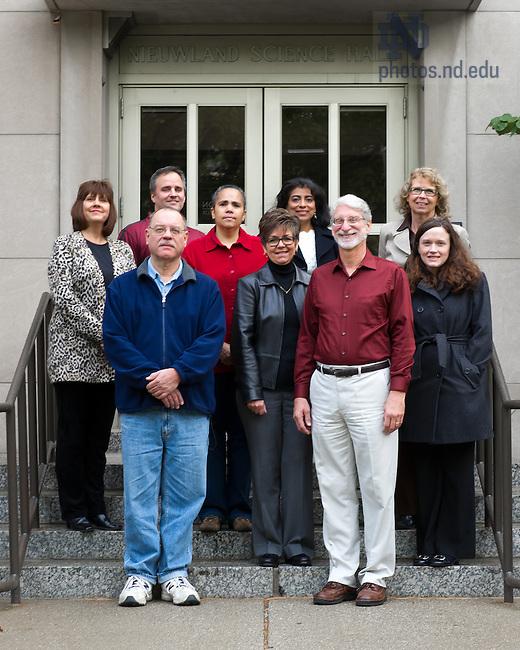 Oct. 23, 2013; 2013 Team Irish winners: Chemistry and Biochemistry Office &amp; Service Staff.<br /> <br /> Photo by Matt Cashore/University of Notre Dame