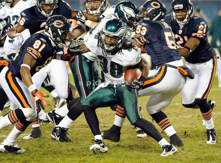 JORRICK CALVIN, of the Philadelphia Eagles in action durIng the Eagles game against the Chicago Bears at Soldier Field in Chicago, IL on November 28, 2010...Bears beat the Eagles 31-26.