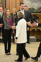 Spanish Royals attend audiences