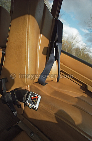 Interior of very early 1970 Range Rover, chassis No. 35500015A, Registration YVB 162H, Engine 3.5 ltr V8 petrol. Belonging to the Dunsfold Collection of Landrovers, Surrey, UK. RELEASES MAY BE AVAILABLE FOR CERTAIN USES, PLEASE ENQUIRE. Automotive trademarks are the property of the trademark holder, authorization may be needed for some uses. --- Info: YVB 162H (chassis no. 35500015A) is one of the 28 Range Rover pre-production prototypes bulit in 1970 prior to its launch in June 1970. Development of the Range Rovers started in November 1968. Most of the pre-production vehicles carried the name VELAR for running on the road in disguise, there were no Land / Range Rover badges. Very little changed from prototypes to production; smooth dash to grained, aluminium bonnet to steel, wheels went from cream to silver. Most of the prototypes carried a 'YVB' registration and had an H suffix. An additional batch of 20 press fleet vehicles was built carrying registration marks NXC 231H to NXC 250H. Around 38 of these pre-production vehicles still survive. This vehicle, YVB 162H was purchased by Dunsfold in the early 90s after suffering a bad engine fire, and was fully rebuilt keeping as many original parts as possible, but sadly the aluminium bonnet was beyond repair. YVB 162H is a working vehicle, used in many photo shoots and is driven often.