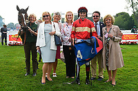 Connections of Exceeding Power in the winners enclosure during Ladies Evening Racing at Salisbury Racecourse on 15th July 2017