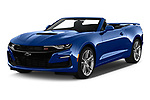 2019 Chevrolet Camaro 2SS 2 Door Convertible angular front stock photos of front three quarter view