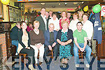 Surprise: John O'Connor, Clieveragh, Listowel, (seated, centre) pictured with family & friends at his surprise 70th birthday party in The Saddle Bar, Listowel on Friday night. Seated next to John is his sister Peggy Kennelly, Lisselton who was also celebrating her 80th birthday...(Contact 06823095)