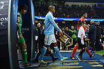 Vincent Kompany of Manchester City walks out ahead of kick off during the UEFA Champions League match at the Etihad Stadium. Photo credit should read: Philip Oldham/Sportimage