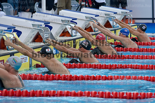 Ryan Lochte (USA) competes during the 200 m Men's Backstroke Swimming competition during the 13th FINA Swimming World Championships held in Rome, Italy. Thursday, 30. July 2009. ATTILA VOLGYI