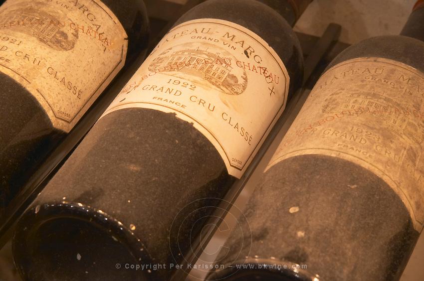 Chateau Margaux 1921, 1922 and 1923 from Margaux, Medoc, Bordeaux in a collection of all vintages of Bordeaux first growth clarets.  Ulriksdal Ulriksdals Wärdshus Värdshus Wardshus Vardshus Restaurant, Stockholm, Sweden, Sverige, Europe