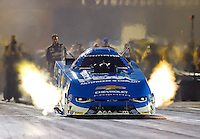 Sep 2, 2016; Clermont, IN, USA; NHRA funny car driver John Force during qualifying for the US Nationals at Lucas Oil Raceway. Mandatory Credit: Mark J. Rebilas-USA TODAY Sports